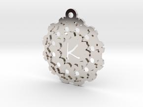 Magic Letter K Pendant in Rhodium Plated Brass