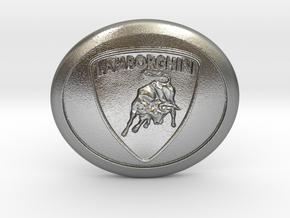 Lamborghini buckle in Natural Silver