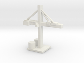 Shipyard Crane  in White Natural Versatile Plastic