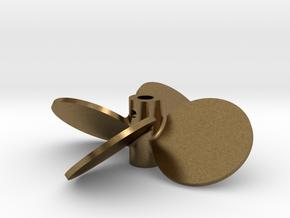 "2.50"" - BBP 40º RH - 3/16"" Shaft in Natural Bronze"