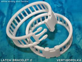 Latch Bracelet 2 in White Strong & Flexible