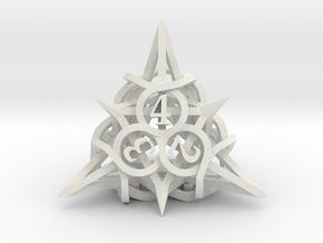 Thorn Die4 in White Premium Versatile Plastic