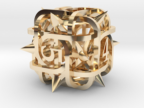 Thorn d6 in 14K Yellow Gold
