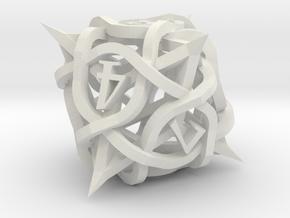 Thorn Die8 in White Premium Versatile Plastic