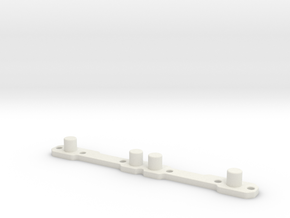 Header Plate for RC4WD V8 (type 2) in White Natural Versatile Plastic