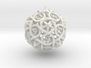 DoubleSize Thorn Die20 in White Premium Versatile Plastic