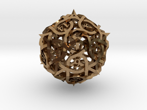 DoubleSize Thorn d20 in Natural Brass