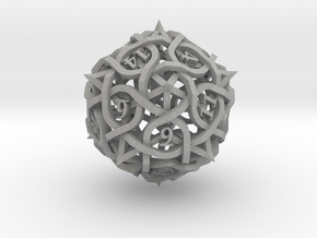 DoubleSize Thorn d20 in Aluminum