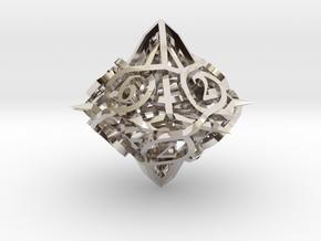 Thorn d10 Ornament in Platinum
