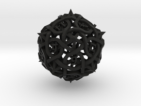 Thorn Die20 Ornament in Black Premium Versatile Plastic
