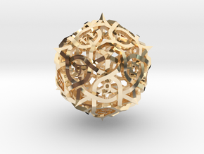 Thorn Die20 Ornament in 14K Yellow Gold