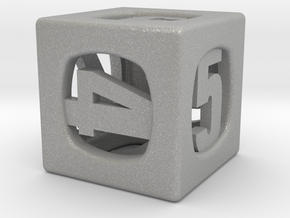 Thoroughly Modern d6 in Aluminum