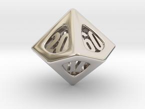 Thoroughly Modern d10 Decader in Rhodium Plated Brass