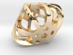 DemiDodeca d6 in 14k Gold Plated Brass