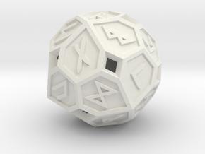 Elder Futhark Die24 in White Premium Versatile Plastic