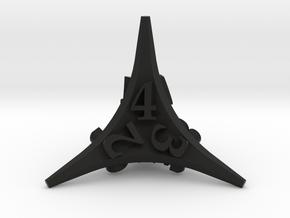 Caltrop Die4 in Black Premium Versatile Plastic