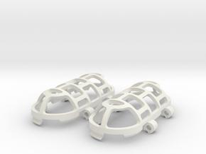 Pendant Cage in White Premium Versatile Plastic