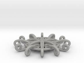 Tentacle Rosette Pendant in Aluminum