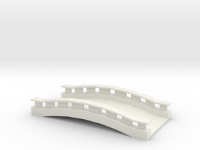 Commercial Bridge  in White Natural Versatile Plastic