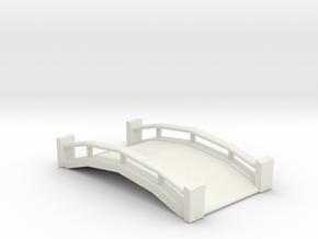 Wood & Cement Bridge in White Natural Versatile Plastic
