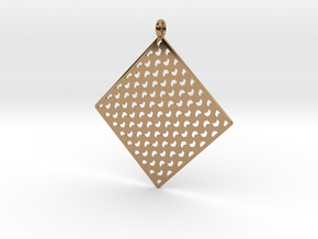 Pendant Pattern 1c in Polished Brass