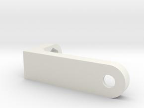 led-holder for i3 3d printer clone in White Natural Versatile Plastic