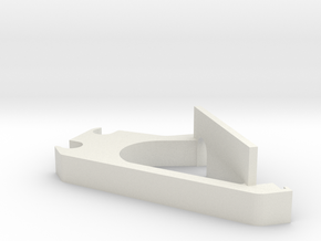 LCD-holder-B for i3 3d printer clone in White Natural Versatile Plastic