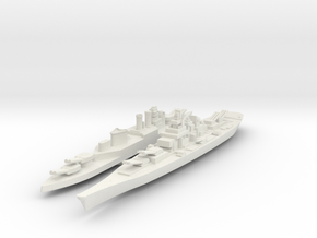 Montana & Hood 1/4800 scale in White Natural Versatile Plastic