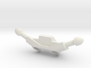 Wyvern Pattern Hover Bike Controls in White Natural Versatile Plastic: Small