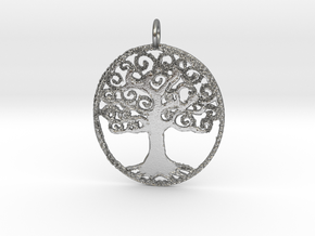 Creator Pendant in Natural Silver