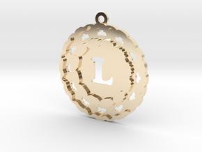 Magic Letter L Pendant in 14K Yellow Gold