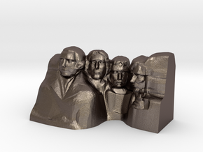 Mount Rushmore Monument in Polished Bronzed Silver Steel