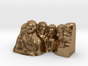 Mount Rushmore Monument in Natural Brass