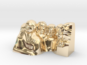Mount Rushmore Monument in 14k Gold Plated Brass