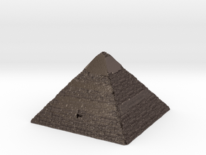 Pyramid of Khafre in Polished Bronzed Silver Steel