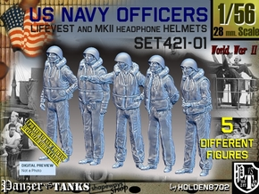 1/56 USN Officers Kapok Set421-01 in Smooth Fine Detail Plastic