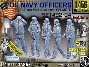 1/56 USN Officers Kapok Set422-04 in Smooth Fine Detail Plastic