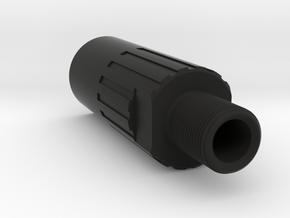 ASG CZ EVO III 1 Piece Thread Adaptor (18mm to 14m in Black Natural Versatile Plastic