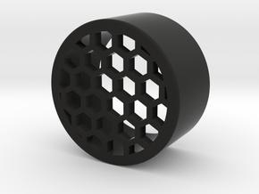 Honeycomb onepiece 32mm in Black Natural Versatile Plastic