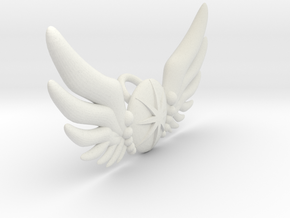 Star Wing Brooch for 42 cm doll in White Natural Versatile Plastic