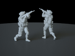 5 HO Modern Soldier (no base) in Smooth Fine Detail Plastic