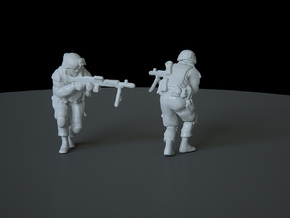 7 HO Modern Soldier (no base) in Smooth Fine Detail Plastic