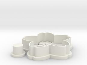 sakura-cookiecutter in White Natural Versatile Plastic