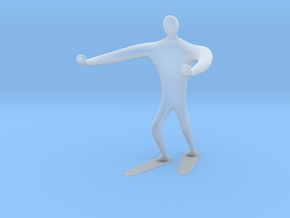 Blind walk statue in Smooth Fine Detail Plastic: 6mm