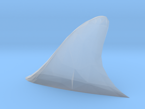 S Scale Shark fin in Smooth Fine Detail Plastic