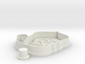 santa-cookiecutter in White Natural Versatile Plastic