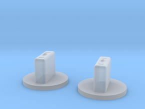 Explosive suitecase Tokens in Smooth Fine Detail Plastic