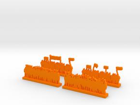 Protestors - Variation A in Orange Processed Versatile Plastic