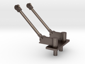 PB&SSR Double Pole Pantograph in Polished Bronzed Silver Steel
