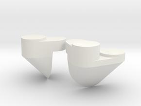 1/96 Yamatosuperstructures part3 in White Natural Versatile Plastic